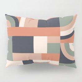 Earth Tones Blocks #society6 #pattern Pillow Sham