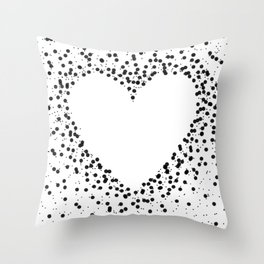 Heart in Dots Throw Pillow