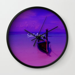 Sail Away Wall Clock