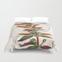 botanical Duvet Covers featuring Botanical by Connie Goldman