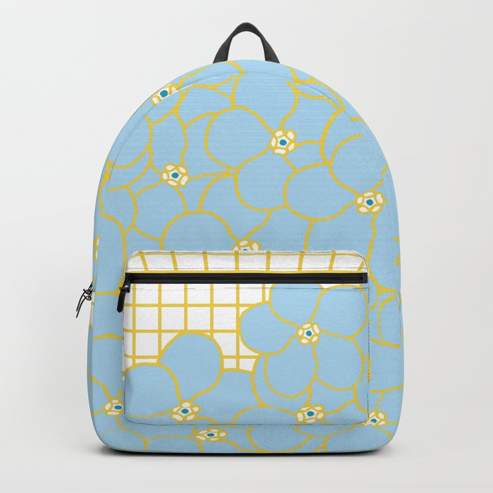 Forget Me Knot Gold Grid Backpack