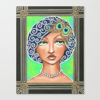 the great gatsby Canvas Prints featuring Great Gatsby by Jaymee Laws