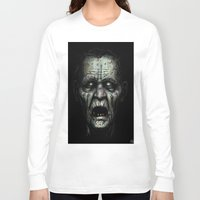 zombie Long Sleeve T-shirts featuring Zombie by Havard Glenne