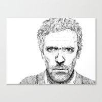 house md Canvas Prints featuring Hugh Laurie, House MD by Milicule