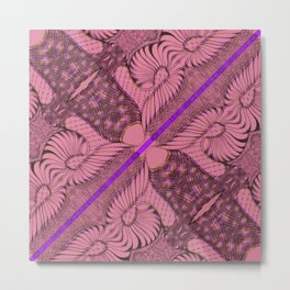 Diagonal Abstract Psychedelic Doodle 2 Metal Print
