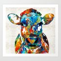 Colorful Cow Art - Mootown - By Sharon Cummings by sharoncummings