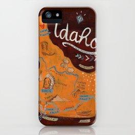 Idaho map iPhone Case