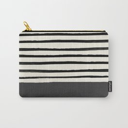 Charcoal Gray x Stripes Carry-All Pouch