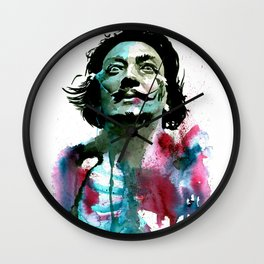 Watercolor Dali Wall Clock