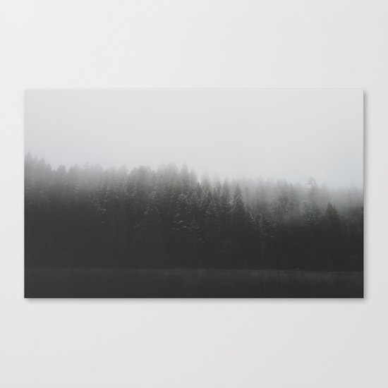 Frosted Trees Lake Canvas Print