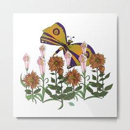 Butterfly Garden - by H.H.Lyman(Skip) Metal Print