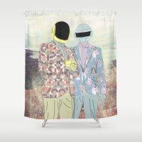 daft punk Shower Curtains featuring Daft Punk. by Lucas Eme A