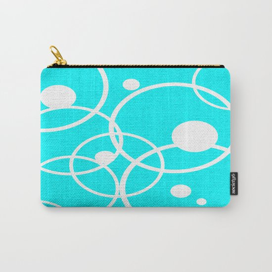 Circles on Blue Carry-All Pouch