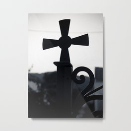 Cycladic cross Metal Print
