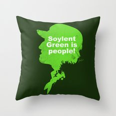 Soylent Green – Silhouette Quote Throw Pillow