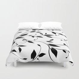 FLOWERY VINES | white black Duvet Cover