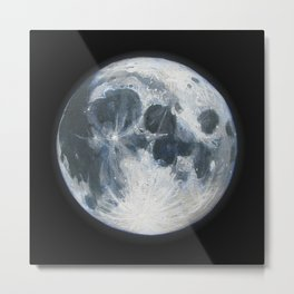 Moon Portrait 1 Metal Print