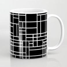 Map Outline White on Black Mug