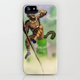 Monkey king iPhone Case