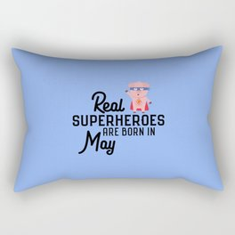 Superheroes-are-born-in-May T-Shirt Dl7nq Rectangular Pillow