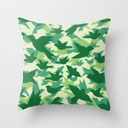 Bird Camouflage 10 Throw Pillow