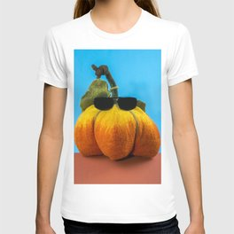 Pumpkin handmade from felted wool for celebration of Halloween T-shirt