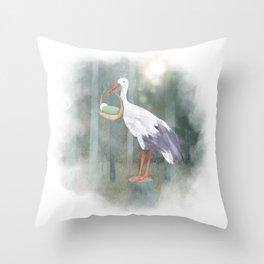 Stork Throw Pillow