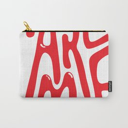 """Sassy """"Make Me"""" Typography Carry-All Pouch"""