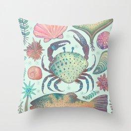 Marine Creatures II Throw Pillow