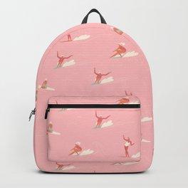 Waikiki beach in pink Backpack