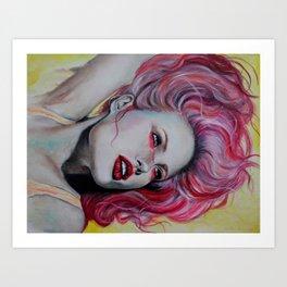 Pink Jolie Art Print