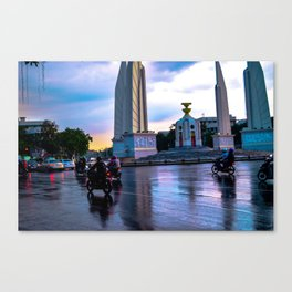 Motorbikes in South East Asia Canvas Print