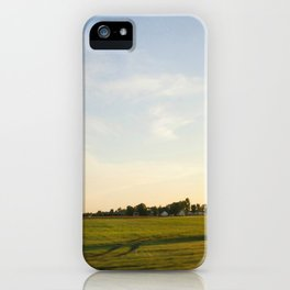 Midwest Fields Sunrise iPhone Case