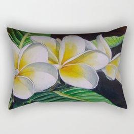 Polynesian Plumeria Rectangular Pillow
