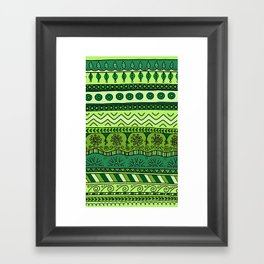 Yzor pattern 003 green Framed Art Print
