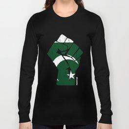 Team Pakistan Flag Tee Shirt Long Sleeve T-shirt