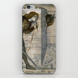 """Edward Burne-Jones """"Theseus and the Minotaur in the Labyrinth"""" iPhone Skin"""