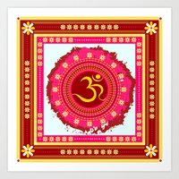 om Art Prints featuring OM by nandita singh