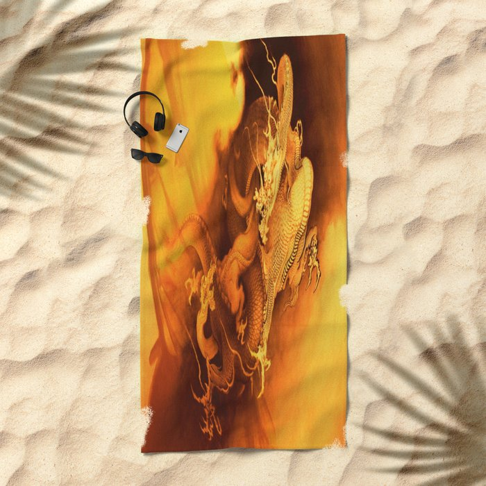 Destiny Of A Dragon Beach Towel