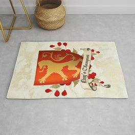 King's Champion - Lioness Shield Rug