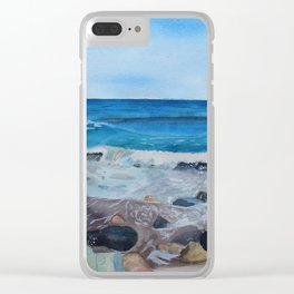 Hampton Beach Painting Clear iPhone Case