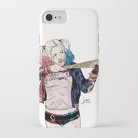 harley quinn iPhone & iPod Cases featuring Harley Quinn by jorgeink