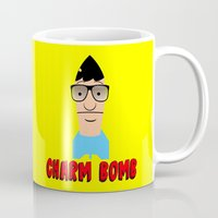 tina Mugs featuring Charm Bomb  |  Tina Belcher  by Silvio Ledbetter