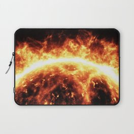 Sun surface with solar flares Laptop Sleeve