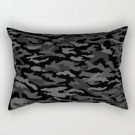 NEW AGE BLACK CAMOUFLAGE IN 4 SHADES OF GRAY Rectangular Pillow