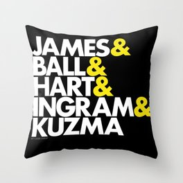 Lakers Lineup: LeBron & Young Core Throw Pillow