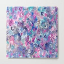 Painted ocean roses Metal Print