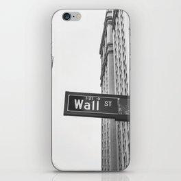Wall street bw iPhone Skin