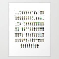 Walter White's Wardrobe - Season 1 Art Print