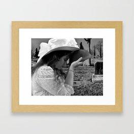 Gilded Memorial Black and White Framed Art Print